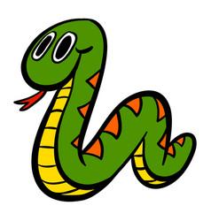 Cute cartoon snake vector