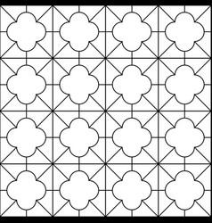decorative seamless ornamental pattern vector image