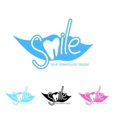 Dental clinic logo template with tooth icon vector image