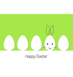 Easter eggs and bunny vector