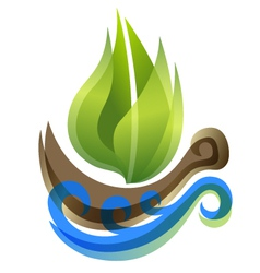 ecological icon in thie form of the ship vector image