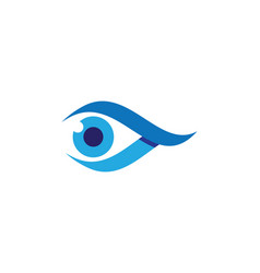 Eye care logo template icon vector
