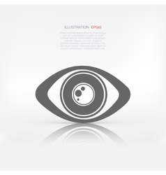 Eye icon human eye symbol vector image