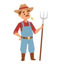 Farmer man vector image