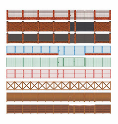 fences and gates vector image