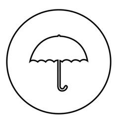 figure emblem sticker umbrella icon vector image