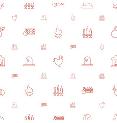 fire icons pattern seamless white background vector image