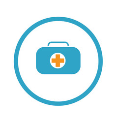 First aid kit symbol and medical services icon vector