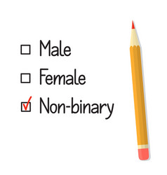 Gender options check boxes vector