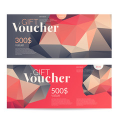 gift voucher and original flyer for discount low vector image