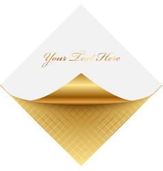golden note paper vector image