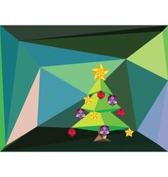 Green Polygonal Christmas Tree2 vector