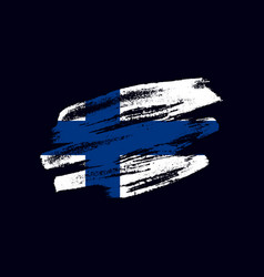 grunge textured finnish flag vector image