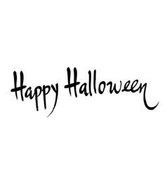 happy halloween handwritten brush lettering vector image