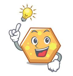 have an idea hexagon mascot cartoon style vector image