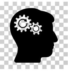 Head wheels rotation icon vector