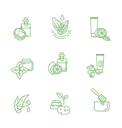 icon and logo for natural cosmetics and vector image