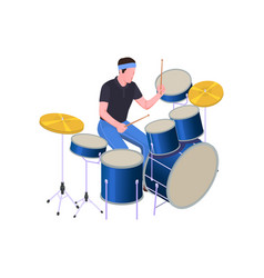 Isometric drums icon vector