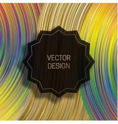 Jagged round frame on dynamic colorful background vector