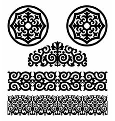 Kazakh pattern vector