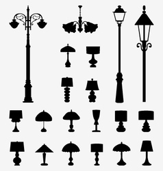 Lamps and lanterns vector