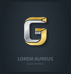 Letter G Template for company logo 3d Design vector