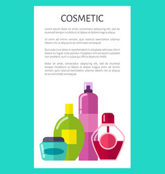 Liquid cosmetic means vertical promotional banner vector