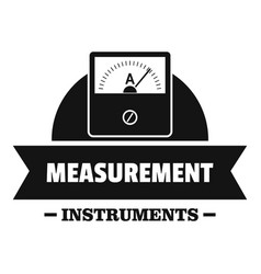 Measurement instrument logo simple black style vector