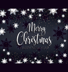 merry christmas and happy new year greeting banner vector image