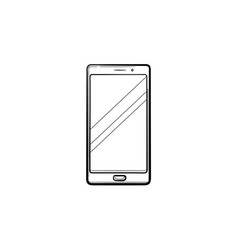 mobile phone hand drawn outline doodle icon vector image