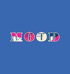 Mood concept word art vector