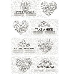nature travel horisontal banner vector image