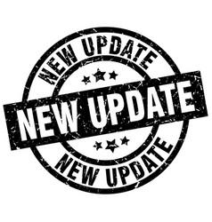 New update round grunge black stamp vector
