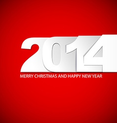 Original New Year 2014 card vector