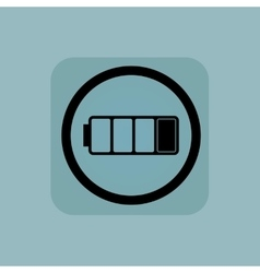Pale blue low battery sign vector