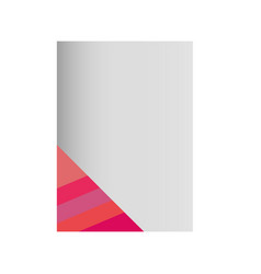 paper sheet with lines pink vector image
