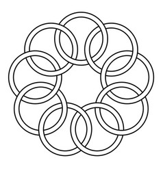 Pattern of the binding rings vector