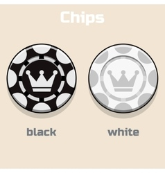 Poker black and White Chips vector image