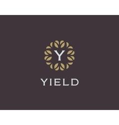 Premium monogram letter Y initials logo Universal vector