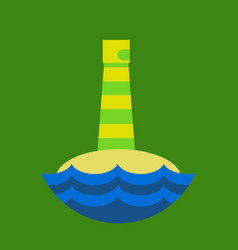 Realistic lighthouse building isolated vector