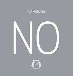 Refusal concept - minimal icon vector