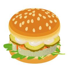 sandwich icon isometric style vector image