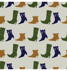 seamless pattern with colored boots vector image