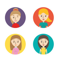 set avatars women of different diversity inside vector image
