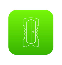 sharpener icon green vector image