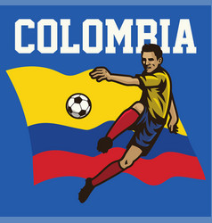 Soccer player of colombia vector