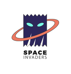 space invaders vector image