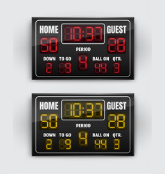 sport scoreboard with vector image