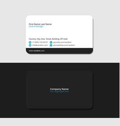 Stylish black business card vector
