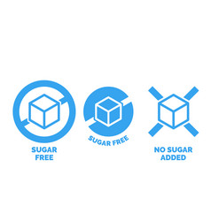 Sugar free label nor added package vector
